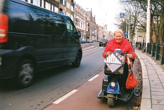 Oostzeedijk evaarlijk voor gehandicapten