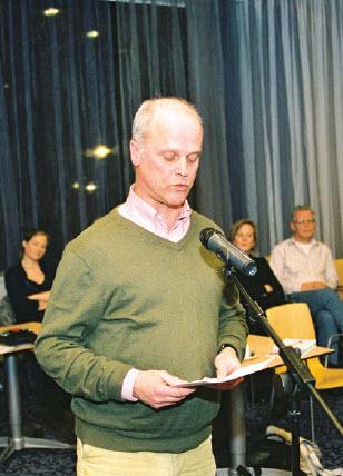 Gerard van Leer lichtte de Wijkvisie Kralingen-Oost toe tijdens de deelraadsvergadering op donderdag 31 januari j.l.