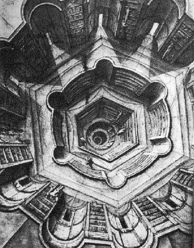 Bibibliotheek van Babel van Borges