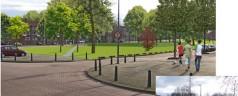Voetballen aan de Willem Ruyslaan