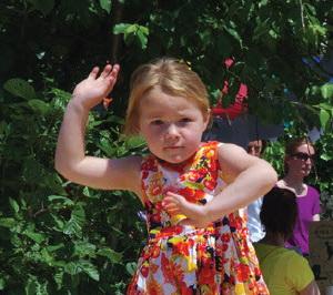 Dansend de zomer in