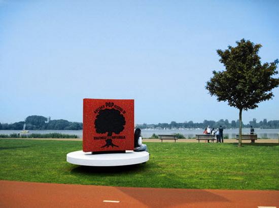 John Blaak, Ontwerp monument Holland Pop Festival 70