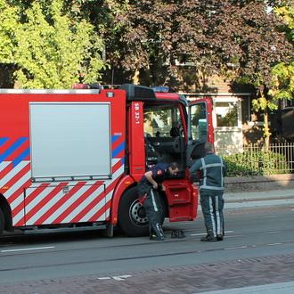 Uitslaande brand aan Oudedijk Rotterdam