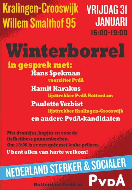 PvdA winterborrel – in gesprek met…