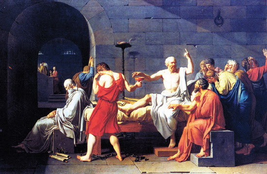Probleem Gestuurd Onderwijs is zo oud als de wereld. Socrates deed al niet anders op de markt in Athene. Niet iedereen vond dat toen mooi en goed. In 399 vC. werd hij tot de gifbeker veroordeeld. Het schilderij is van Jacques-Louis David, 1787.
