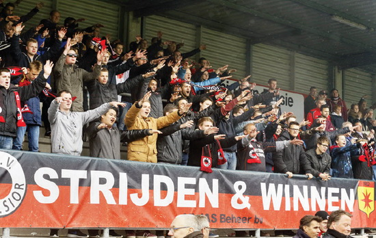 Excelsior fans Foto Jan den Breejen