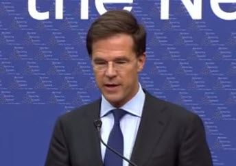 Mark Rutte op 4 mei in Crooswijk