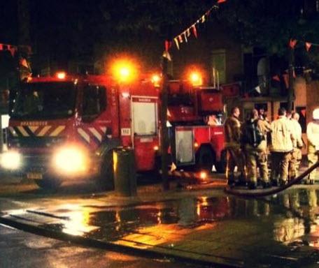 Tien woningen ontruimd bij brand Gerdesiaweg Rotterdam