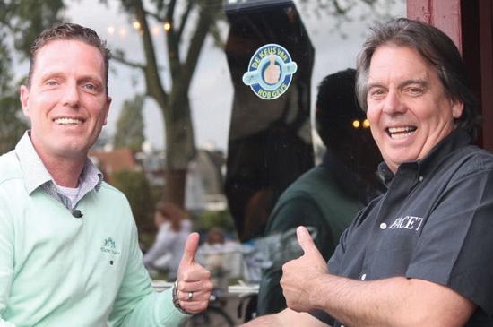 Frans van Breemen en Rob Geus eetcafe Facet