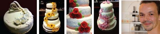 De prachtigste bruidstaarten worden door eigenaar en banketbakker Arjan van Poll (foto) en zijn team gecreëerd.