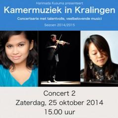 Harimada Kusuma presenteert Kamermuziek in Kralingen