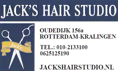 Jack's hair studio logo