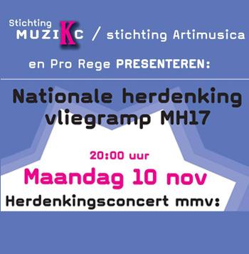Herdenking ramp MH17 in Pro Rege