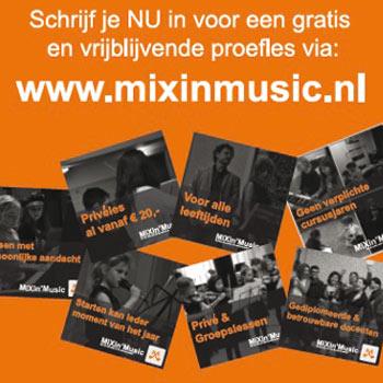 Leuke en betaalbare muzieklessen MiXin'Music
