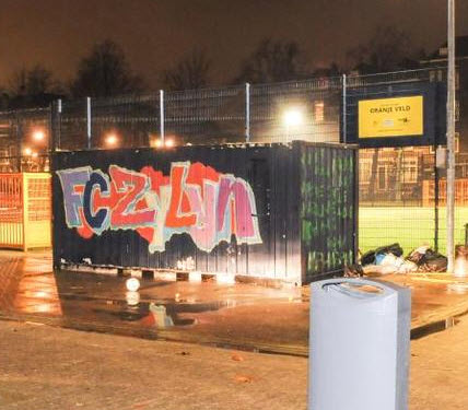 Sporthonk Crooswijk in brand gestoken