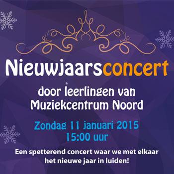 Feestelijk nieuwjaarsconcert Muziekcentrum Noord