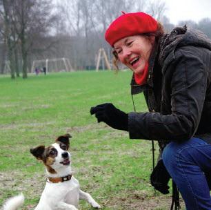 Honden en hun baasjes in het Kralingse Bos