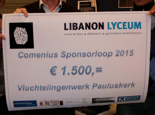 Libanon Lyceum haalt € 1500,- op voor Pauluskerk