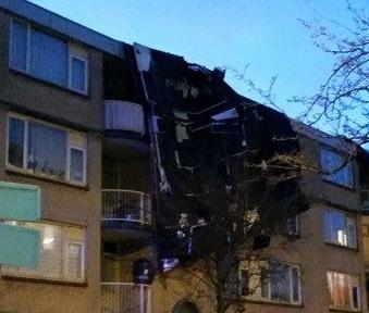 Stormschade appartementencomplex Benthuizerstraat