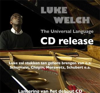 CD release van pianist Luke Welch in Pro Rege
