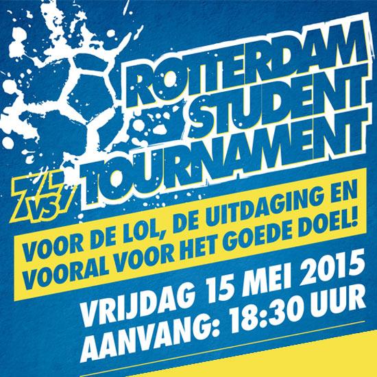 Voetbalt u mee voor het goede doel? Rotterdam Student Tournament