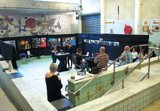 Foto-expositie in droogstaand Beatrixbad