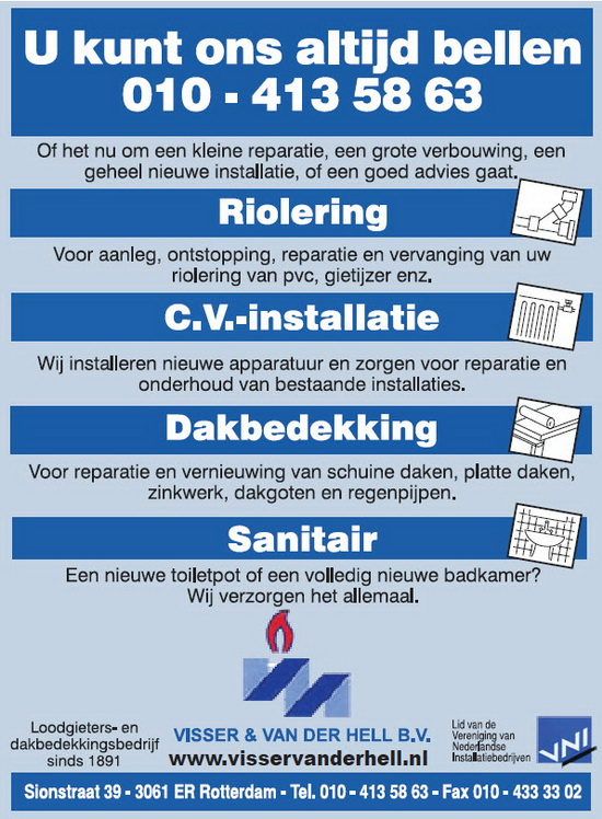 Visser & Van der Hell Loodgietersbedrijf B.V
