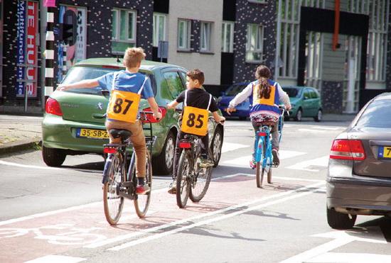 verkeersexamen op de fiets