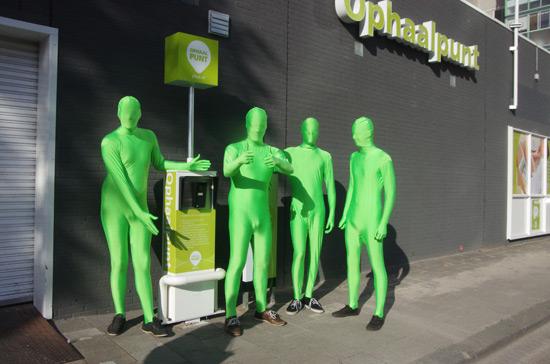 Groene mannetjes in actie voor PLUS De Esch