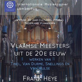 Verrassende Vlaamse muziek door Vlaamse orgelkunstenaar Frank Heye