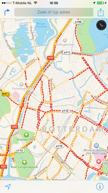 Verkeersinfarct rond Rotterdam
