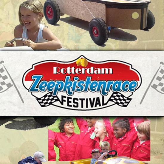 Zeepkistenrace festival aan de Kralingse plas