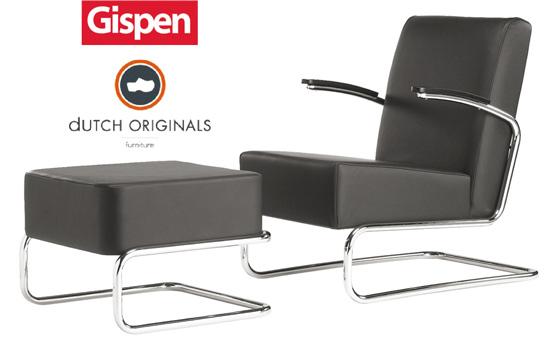 Gispen fauteuil 405 met hocker, nú voor een heel speciale prijs!
