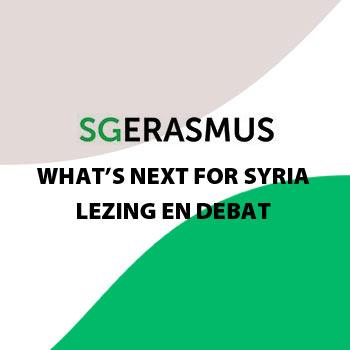 What's next for Syria? | Lezing en debat SG Erasmus