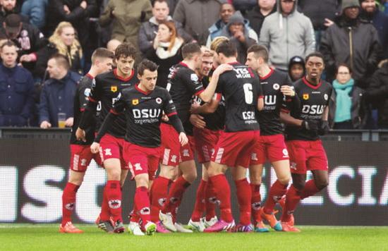Excelsior stond vorig seizoen in de Kuip halverwege met 0-2 voor tegen Feyenoord, maar verloor uiteindelijk helaas toch met 3-2. Foto: Jan den Breejen