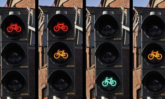 Rotterdamse fietsers krijgen voorrang bij regen