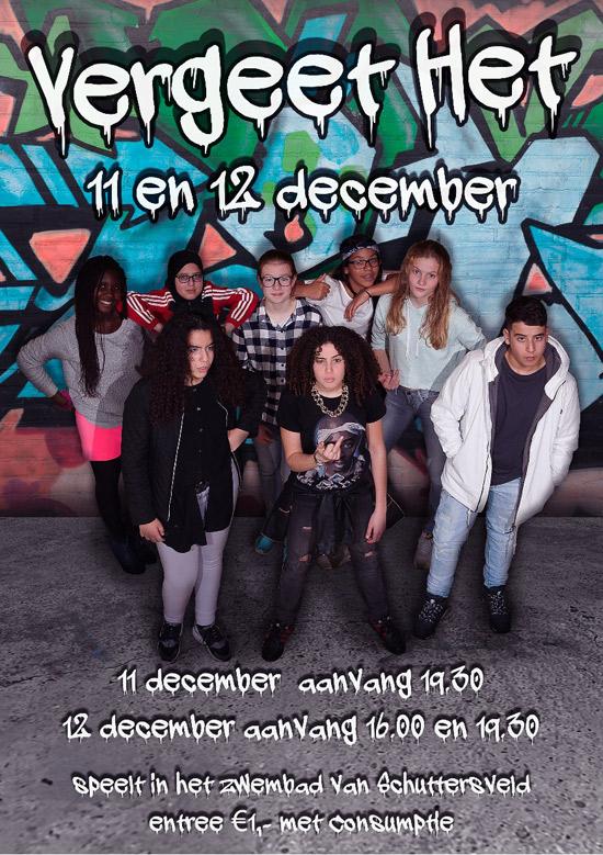 Jongeren uit Crooswijk en Kralingen spelen voorstelling 'Vergeet het'