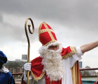 Sinterklaas onderweg opgepikt