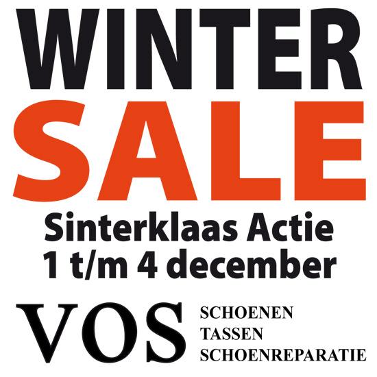 Sinterklaas Actie en Wintersale bij Vos Schoenen