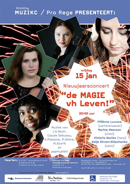 """Nieuwjaarsconcert """"de MAGIE van het Leven!"""" in Pro Rege"""