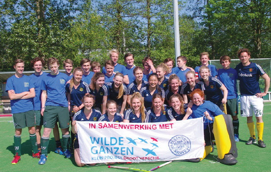 Hockey-battle of the sexes-voor de Lion Heart Foundation