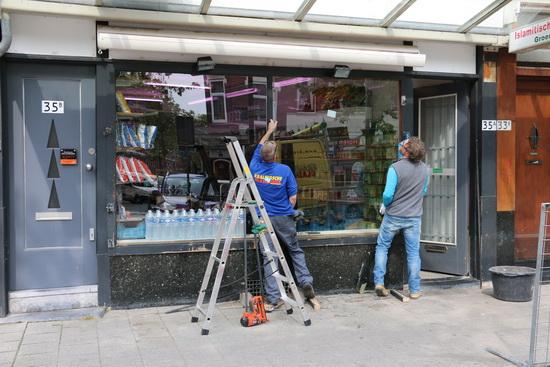 Islamitische slager Lusthofstraat vindt varkenskoppen in winkel