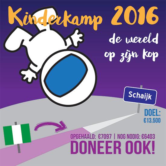 Kinderkamp Kralingen-Crooswijk over de helft! Helpt u ook mee?