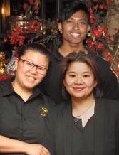 De crew, v.l.n.r. Lisanne, Jason en Hommy