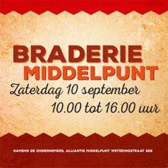 Komt u ook naar de Braderie Middelpunt?