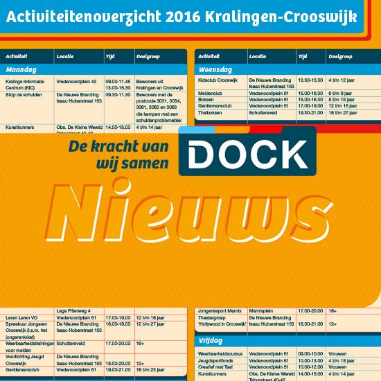 DOCK – Activiteitenoverzicht 2016 Kralingen-Crooswijk