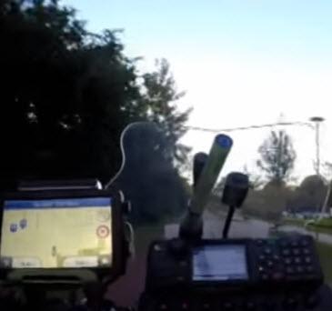 Spectaculaire video achtervolging scooterrijder door Kralingse Bos