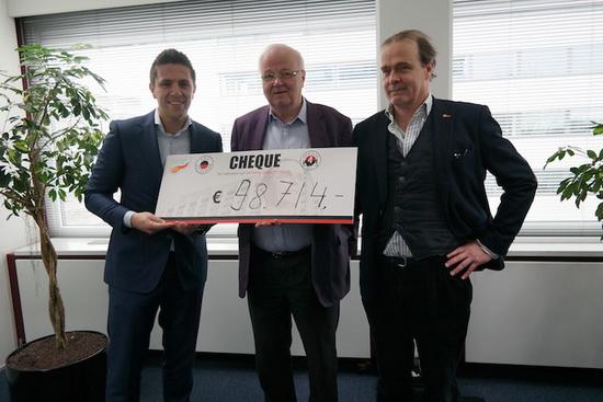 Excelsior overhandigt 98.714 EURO aan Support Casper!