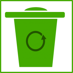 Groene prullenbakken verzamelen meer afval
