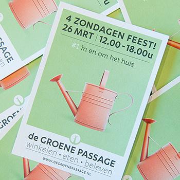 Open zondagen Festivalmarkt bij jarige Groene Passage
